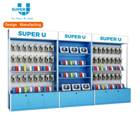 Wall Showcase for Mobile Phone Shop Display Rack Shelf with Led Strips And Light Box Stand