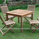 Indonesian Teak Wooden Outdoor Strips Folding Furniture