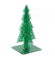 DIY Christmas Tree LED Flash Kit 3D Electronic Learning Kit colorful LED Christmas tree lights flash parts water diy kits