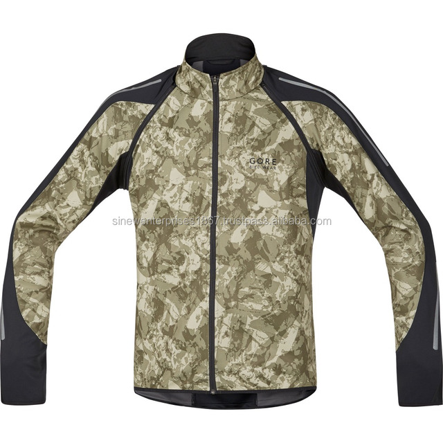 Camouflage Winter Softshell Jacket With Custom Design Breathable & Windproof
