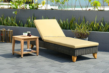 Poly rattan outdoor swimming chaise lounge pool sunbed - rattan patio plastic beach chair sun lounger pool club