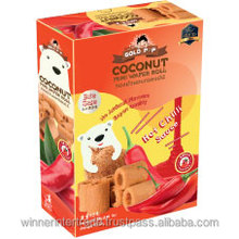(coconut roll) biscuit Coconut Mini Wafer Roll (Box) 85 g. - Sriracha Sauce Flavour Gluten Free