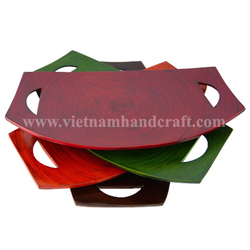 Quality eco-friendly traditionally hand finished vietnamese coiled bamboo giveaway promotion gifts