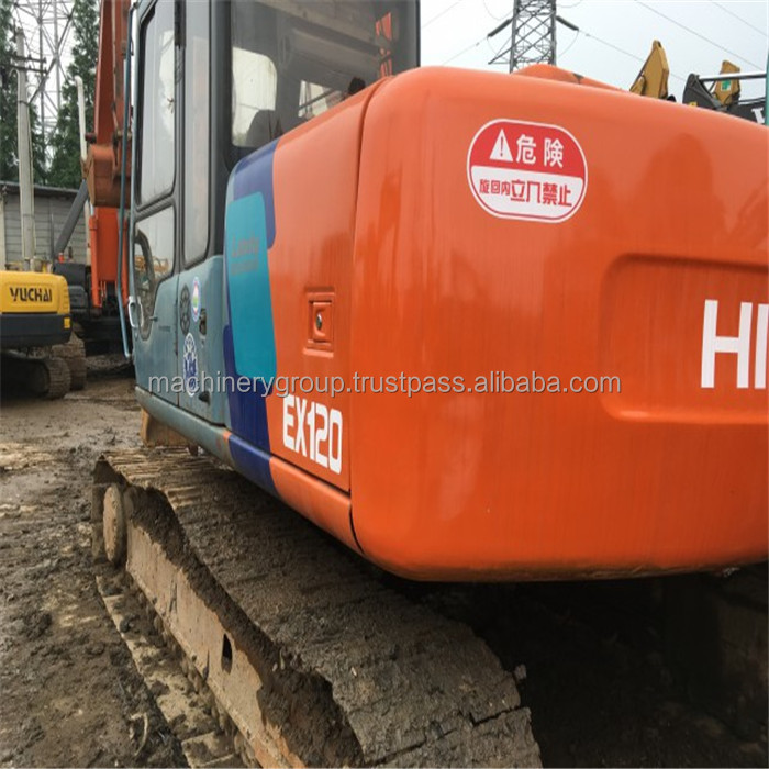 Almost New Used hitachi ex120-5 Crawler Excavator for sale/12 tons hitachi digger in Shanghai China