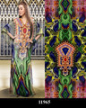 100% Polyester digital printed kaftans