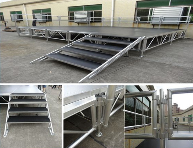 best price catwalk aluminum stage for swimiming pool with TUV approval