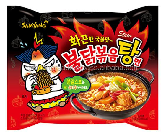 Instant Style and Noodles Product Type Ramen Samyang Hot Chicken Ramen Extreme Spicy Soup