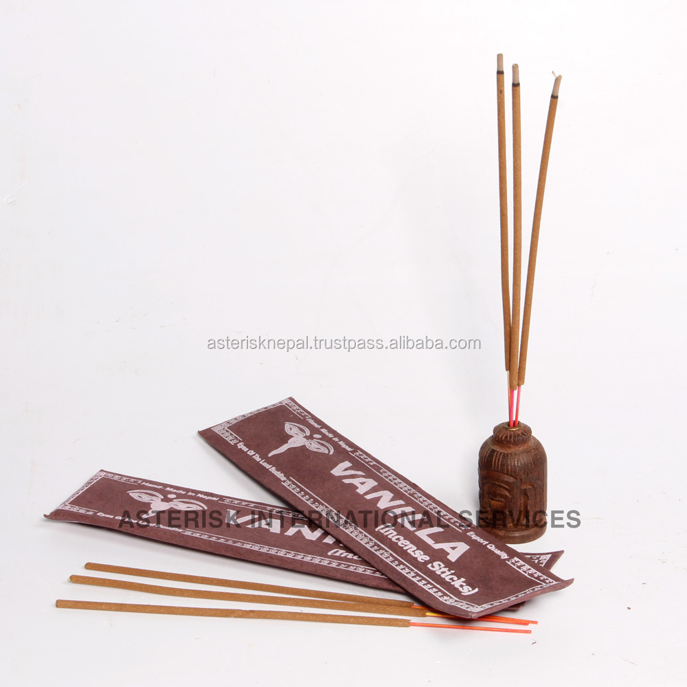 Vanilla Handmade Incense in Lokta Paper - Aromatic - Good for Air Purification
