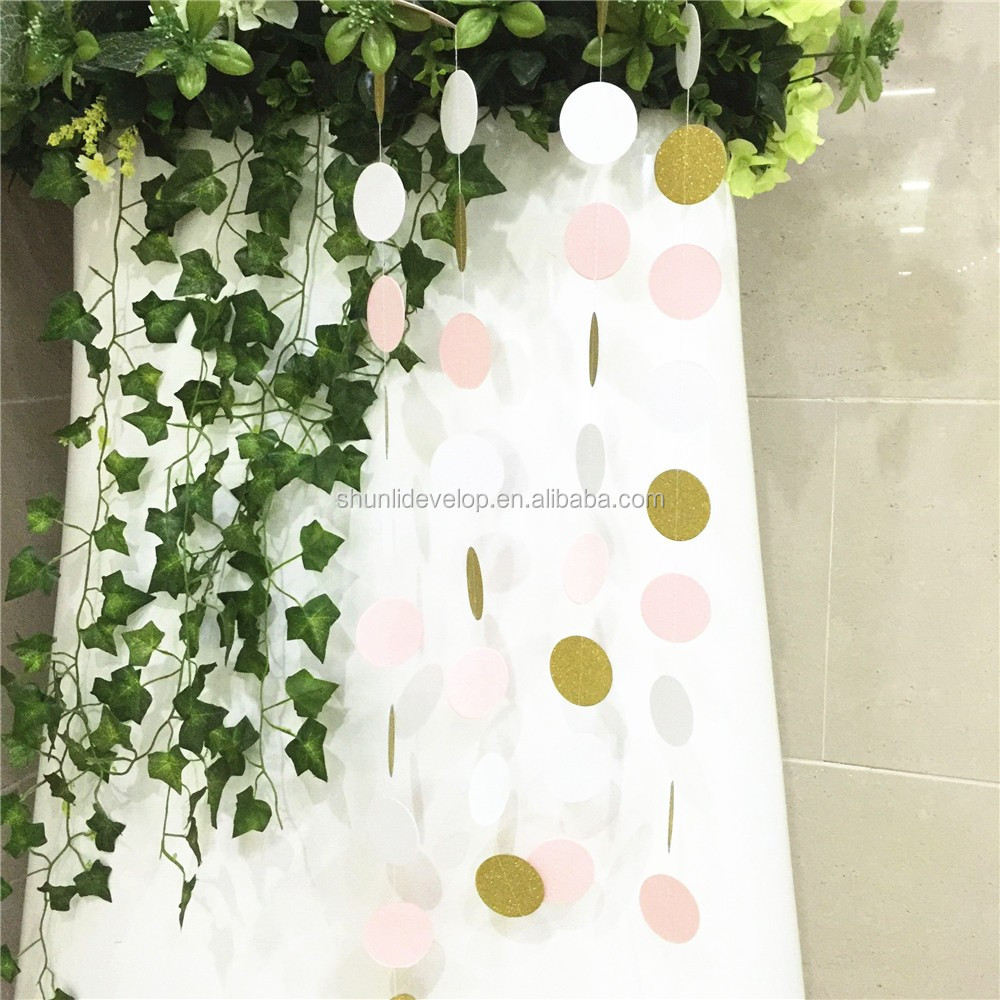 New Style Paper Garland Party Decoration Circle Garland