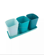 GARDEN PLANTER S POT SET OF THREE POT &TRAY