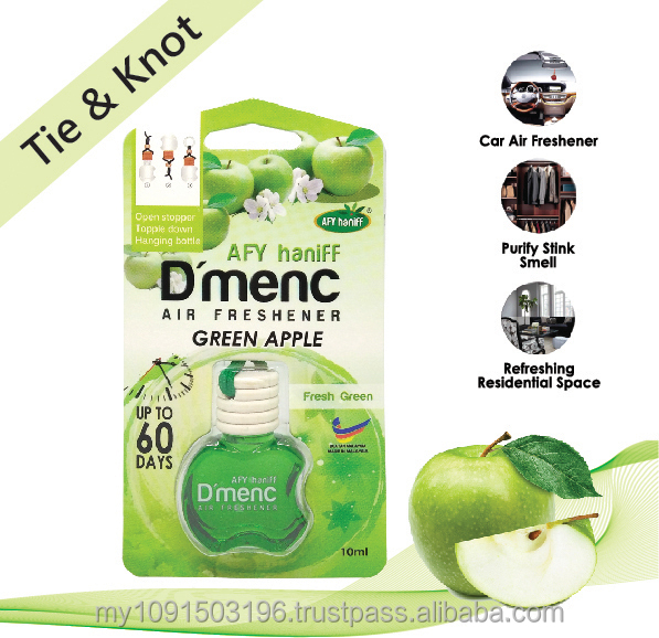 AFY Haniff D'menc Hanging Car Air Freshener Green Apple 10ml fresh scent