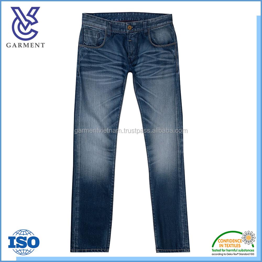 2017 New Fashion Business Casual Men's Jean Pants