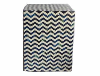 Buffalo Bone mosaic chevron square stool also available in other mosaics