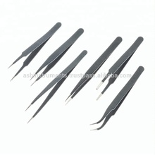 Black-Coated and Non-Magnetic eyelash extension tweezers