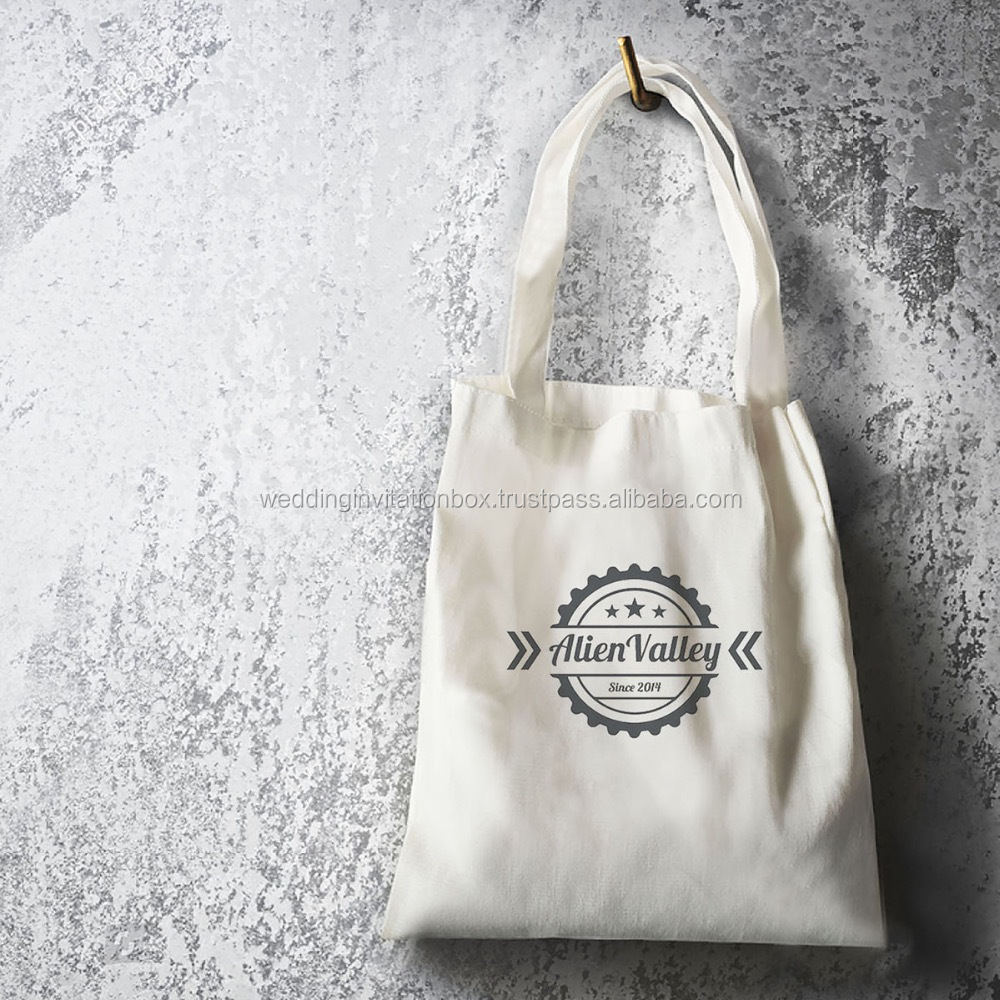 Thai Eco Friendly 100% Cotton Canvas Shopping Tote Bags