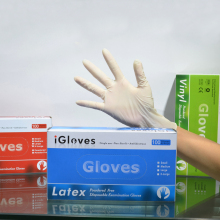 Medical disposable non sterile latex examination gloves in Malaysia high quality gloves latex