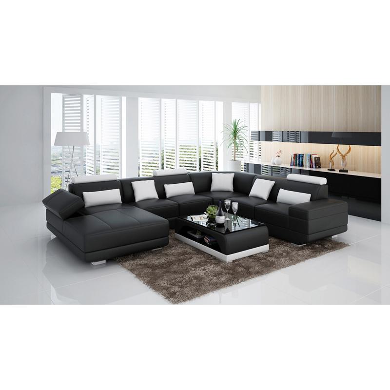 Dark Brown Sectional Sofa Set Designs Modern Leather Sofas South ...