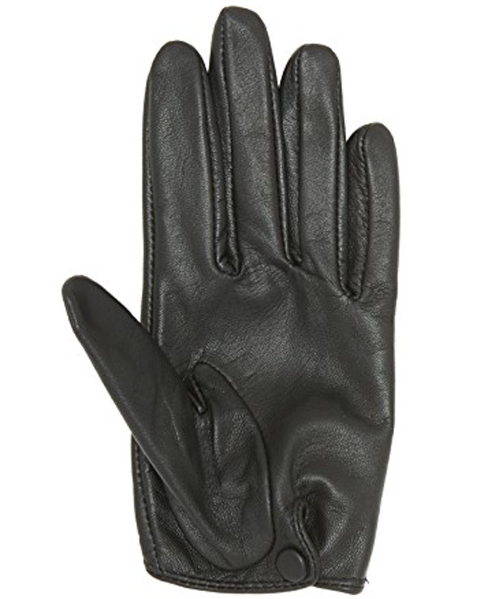 new black leather short style dressing fashion gloves for women