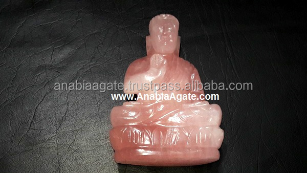 Crystal Quartz Hand carved Gemstone Buddha heads, Thailand Buddha statue for sale