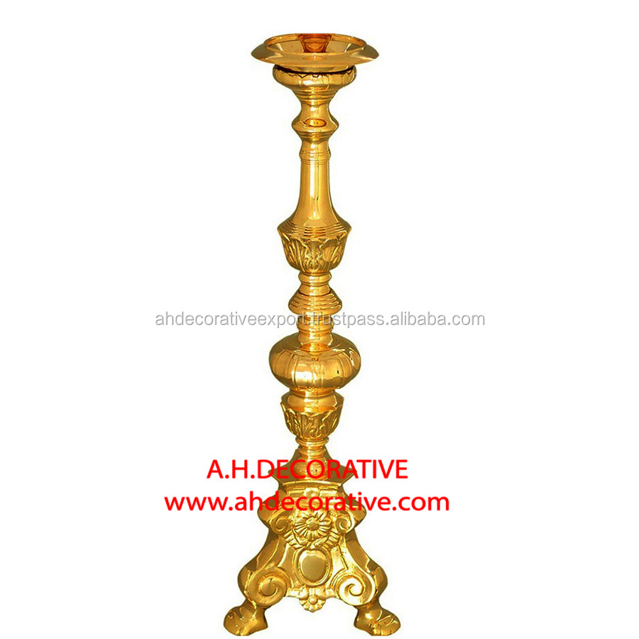 Baroque Candlestick On Tripod Base