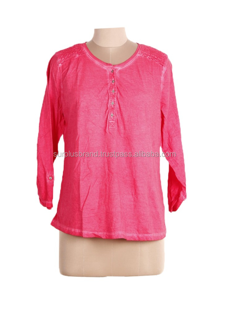 d47507a 2016 ladies long sleeve solid color latest fashion blouse design