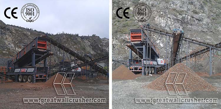 High Capacity Mobile Crusher, Mobile Crusher Plant For Sale, Price for Mobile Crushing plant