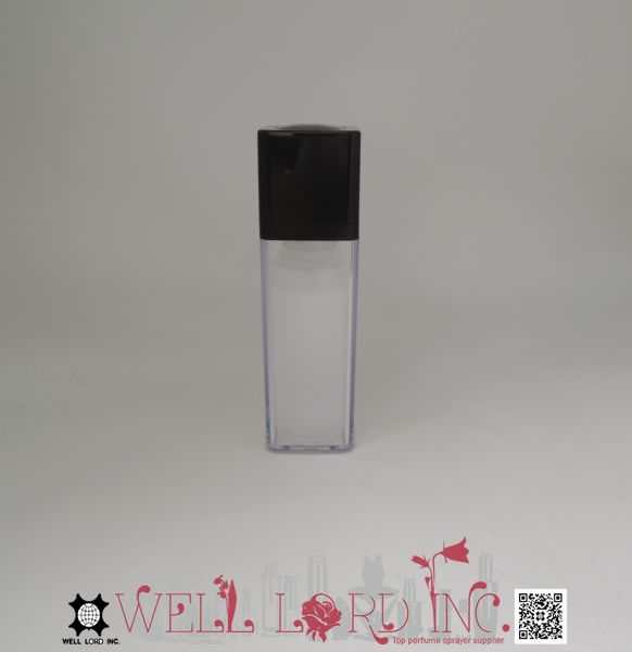 Rectangular retractable cosmetic using 30 ml aluminum spray bottle