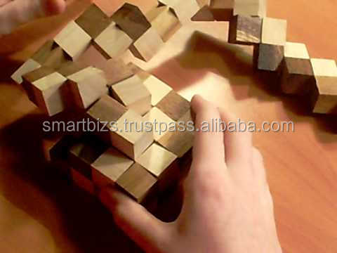 Educational Snake Game 3D Puzzle Wooden Games Twisted Toys