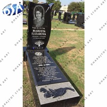 Black Granite Single ledger Monument and Tombstone