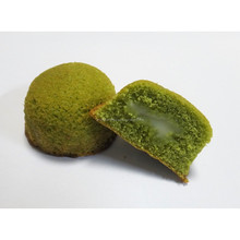 Cute packaging of chiffon kids cakes with matcha flavor contains 12 pieces