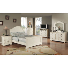 Picket House Furnishings Addison White King Panel Bedroom Set