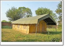 Frame safari tent made of 100% cotton canvas