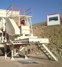 MIDDLE CAPACITY SEMI MOBILE JAW CRUSHER FOR QUARRY PLANT