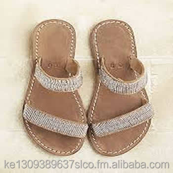 Beaded Leather Sandles