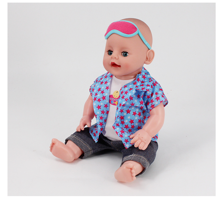 16 inch pee baby reborn doll children toys with 6 sounds
