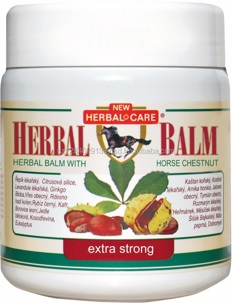Herbal balm with chestnut - Extra Strong 500ML