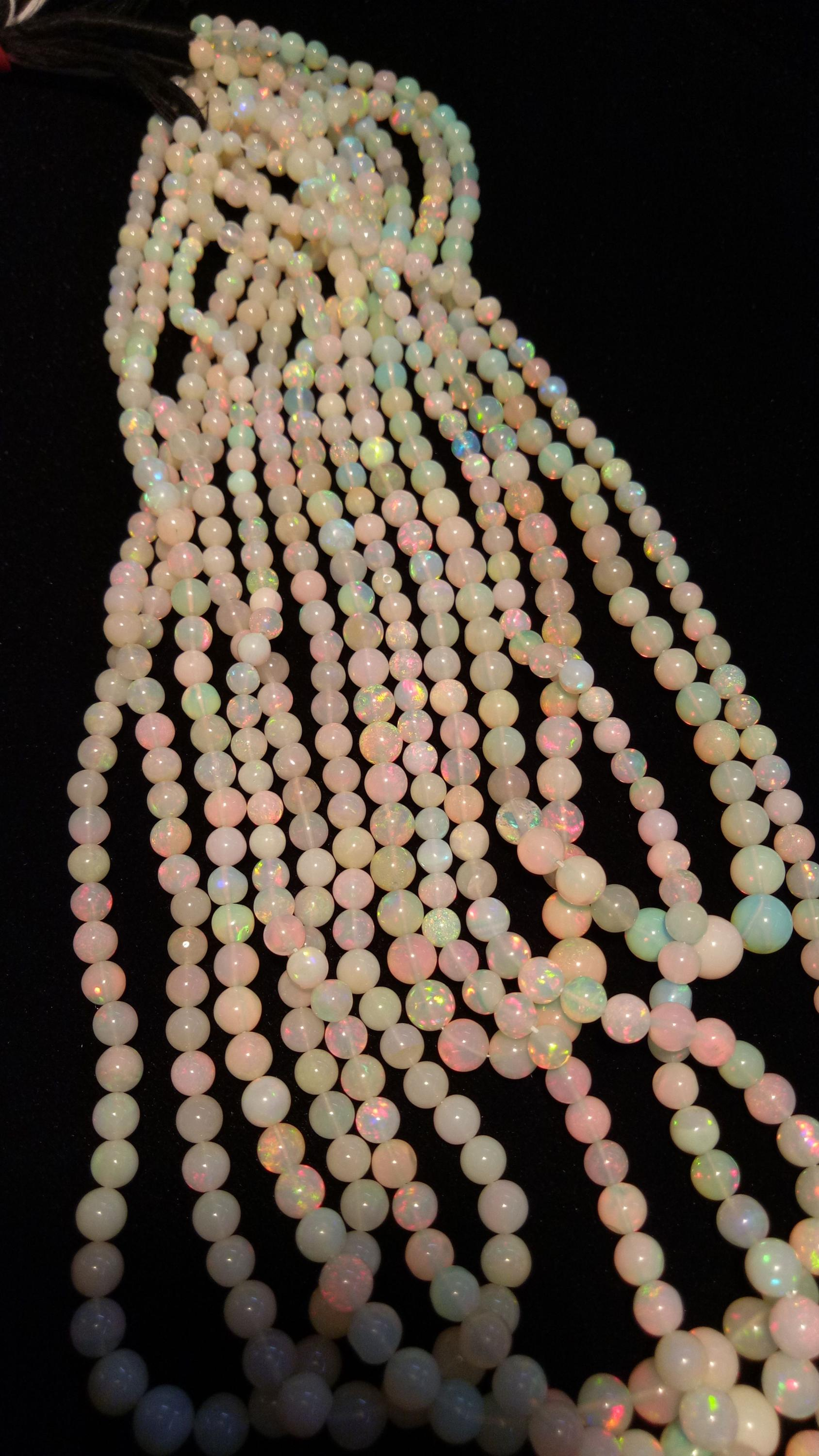 Natural Ethiopian opal ball shape beads good available