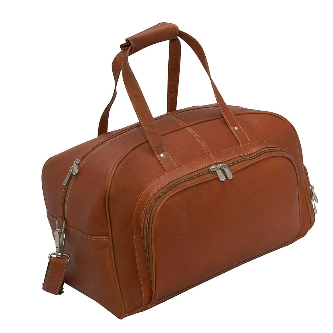 Unisex Leather Travel Carryon Duffle Bag Weekend Bag For Men And Women