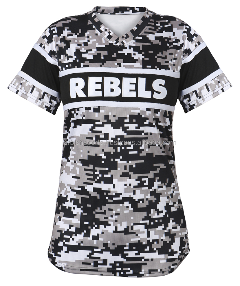 Sublimated Hot Sale Rebels Women Baseball Jersey