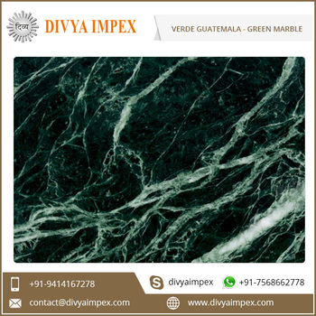 Spider Green Marble Customized Low Price Verde Guatemala Green Marble from India