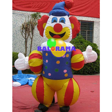 inflatable clown, advertising costume for sale, inflatable clown mascot