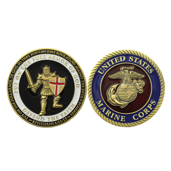 Free design custom USA military  collectible challenge coins