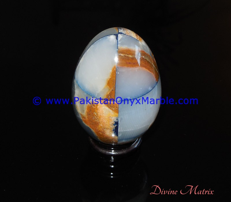 TOP QUALITY Best selling ONYX EGGS DECORATIVE COLORED PATCHWORK TUKRI ONYX HANDCARVED PAPERWEIGHT WITH STANDS DISPLAY NATURAL ON