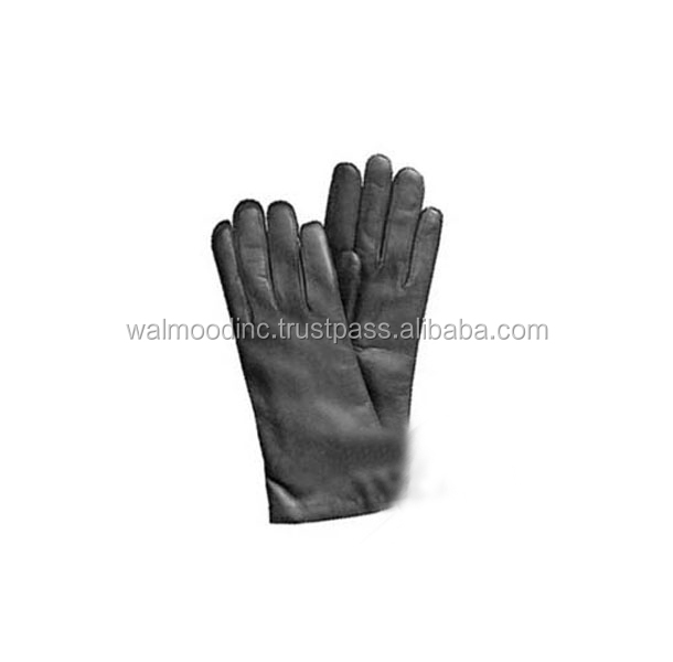 Women Gloves 2016 Thermal Soft Lined Winter Genuine Leather Glove Wrist Solid