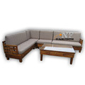 Wooden Sectional Sofa best Seller Low Price made in Indonesia