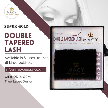 Super Gold Double Tapered Lash 6 Lines