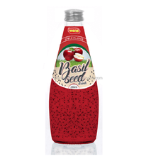 Basil Seed Drink with Apple Juice in Glass Bottle 290ml