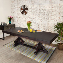 Dining table SHEILA dark colour teak wood furniture