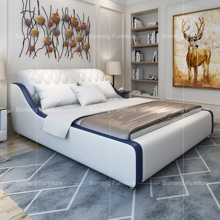 white and blue leather pakistan bedroom furniture