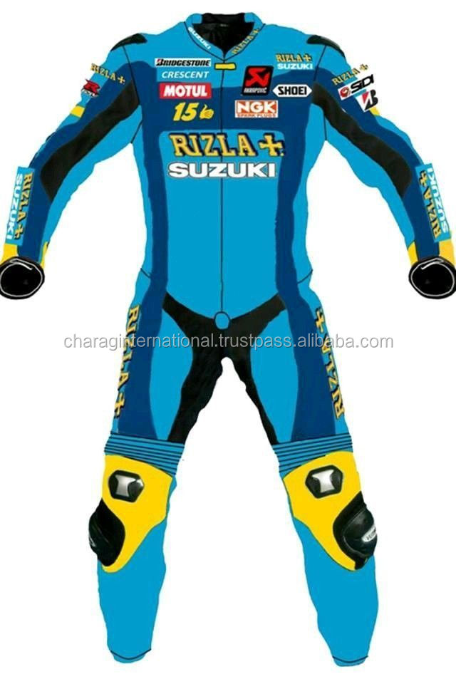 Men Custom Made Wholesale Motorcross Leather Suit/Leather Motorbike Suit/Motorcycle